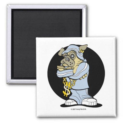 Hip Hop Pug Magnets