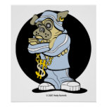 Hip Hop Pug Posters and Prints - add your own text
