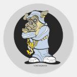 Hip Hop Pug Stickers