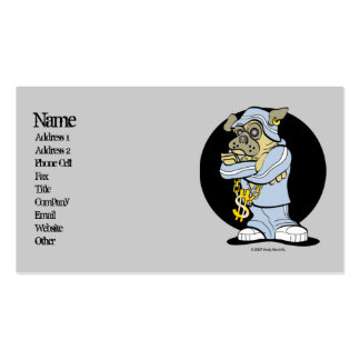 Hip Hop Pug Urban Business Cards