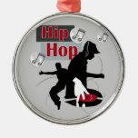 Hip Hop que baila con el ornamento de DJ Adornos De Navidad