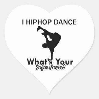Hip Hop que baila diseños Colcomanias De Corazon