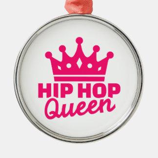 Hip hop queen metal ornament