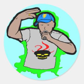 Hip Hop Rap 1 Classic Round Sticker