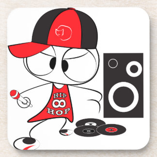 Hip hop rapper doll beverage coaster