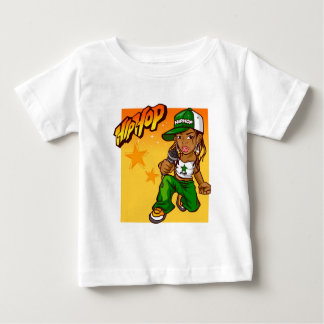 hip hop rapper girl green orange cartoon baby T-Shirt