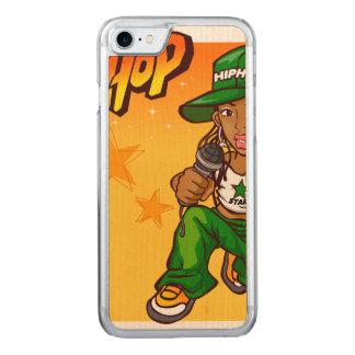 hip hop rapper girl green orange cartoon carved iPhone 7 case