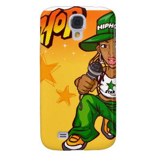 hip hop rapper girl green orange cartoon galaxy s4 cover