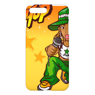 hip hop rapper girl green orange cartoon iPhone 7 plus case