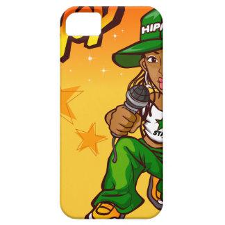 hip hop rapper girl green orange cartoon iPhone SE/5/5s case
