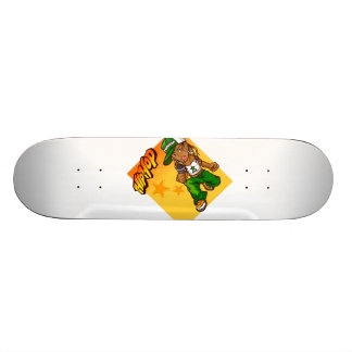 hip hop rapper girl green orange cartoon skate decks