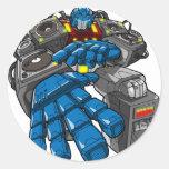 Hip Hop Robot Round Sticker