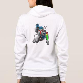 Hip Hop Robotica Hoodie (Raglan) Ladies