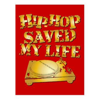 Hip Hop Saved My Life Postcard