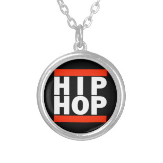 HIP HOP! SILVER PLATED NECKLACE