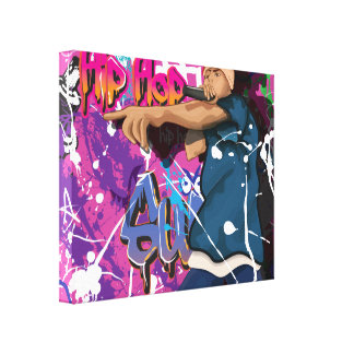 Hip Hop singer Canvas Print