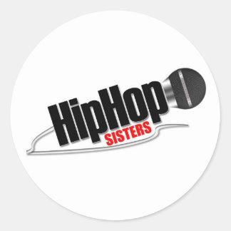 HIP HOP SISTERS ROUND STICKER
