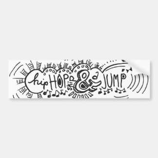 Hip Hop Skip Jump 1 Bumper Sticker