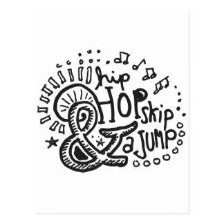 Hip Hop Skip Jump 1 Postcard