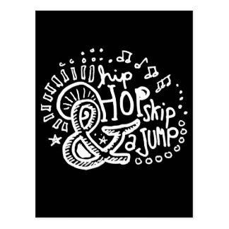 Hip Hop Skip Jump 2 Post Cards