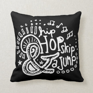 Hip Hop Skip Jump 2-Sided Throw Pillow