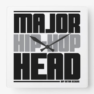 Hip Hop Square Wall Clock