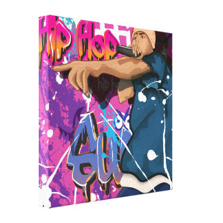 Hip Hop Star Canvas Print