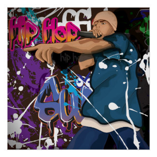 Hip Hop Star Poster