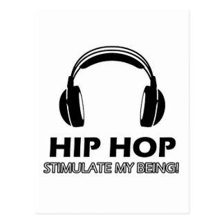 hip hop stimulate me postcard