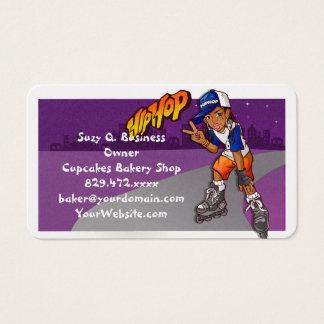 Hip Hop Teenage Skater Cartoon Business Card