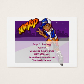 Hip Hop Teenage Skater Cartoon Business Card