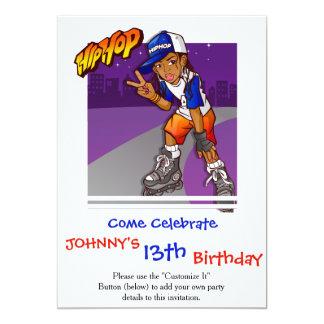 Hip Hop Teenage Skater Cartoon Card