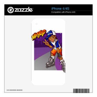 Hip Hop Teenage Skater Cartoon Decals For iPhone 4