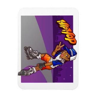 Hip Hop Teenage Skater Cartoon Rectangular Photo Magnet