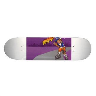 Hip Hop Teenage Skater Cartoon Skateboard
