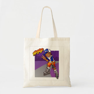 Hip Hop Teenage Skater Cartoon Tote Bag