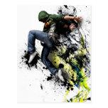 Hip hop to dancer post cards