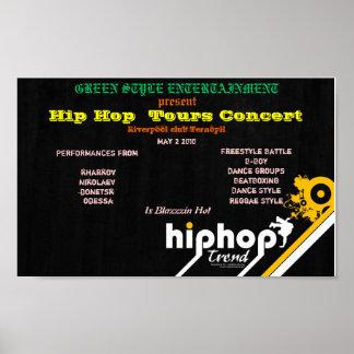 Hip Hop  Tours Concert Poster