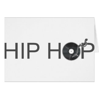 Hip Hop Turntable - Music Vinyl Record Disc Jockey Card