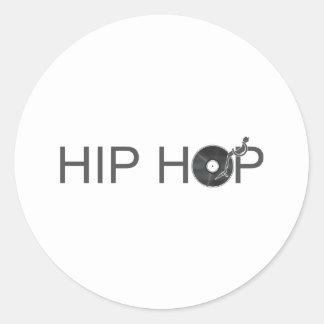 Hip Hop Turntable - Music Vinyl Record Disc Jockey Classic Round Sticker