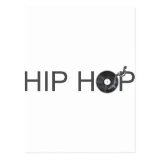 Hip Hop Turntable - Music Vinyl Record Disc Jockey Postcard