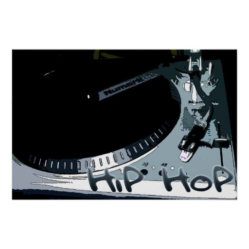 Hip-Hop Turntable Poster