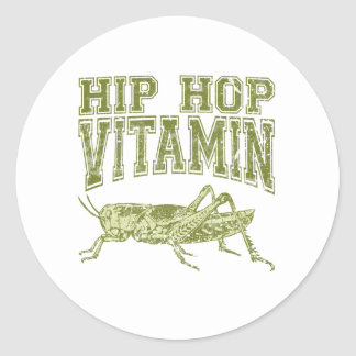 Hip Hop Vitamin Classic Round Sticker
