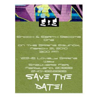 Hip-Hop Wedding Invitation Post Cards