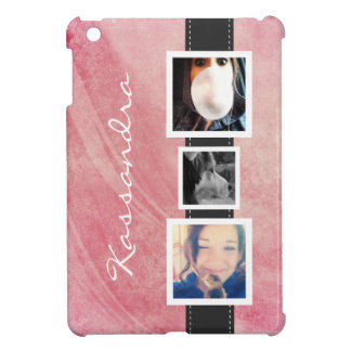 Hip Instagram Photo Collage 3 Photos and Name iPad Mini Cases