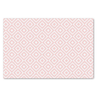 Hip Light Pink Ikat Diamond Squares Mosaic Pattern Tissue Paper