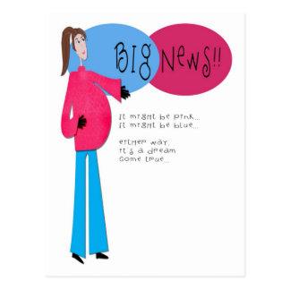 Hip Mama Pregnancy Announcement Postcard