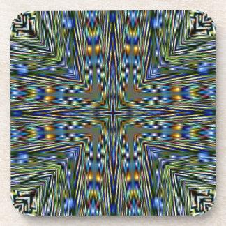 Hip modern Artistic Feathery Pattern Beverage Coaster