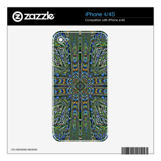 Hip modern Artistic Feathery Pattern Skins For iPhone 4