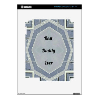 """Hip Modern Gray """"Best Daddy Ever"""" iPad 3 Decal"""